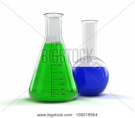 Flasks (clipping path included).