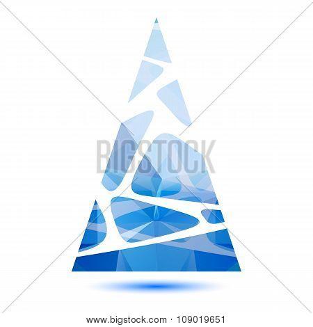 blue striped christmas tree