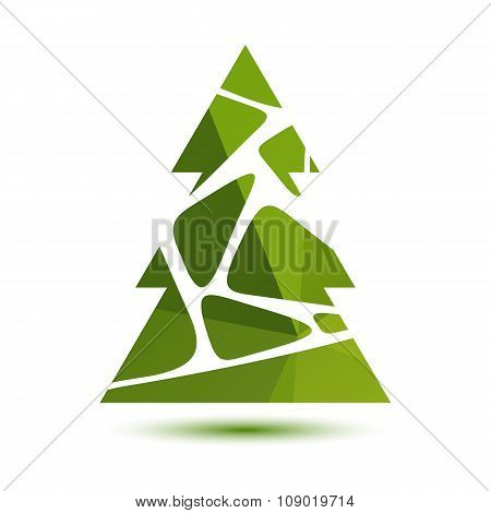 green striped christmas tree