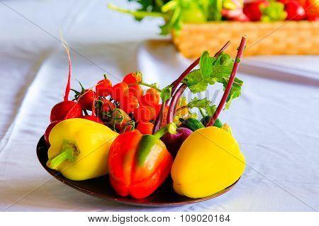 Fresh vegetable background.