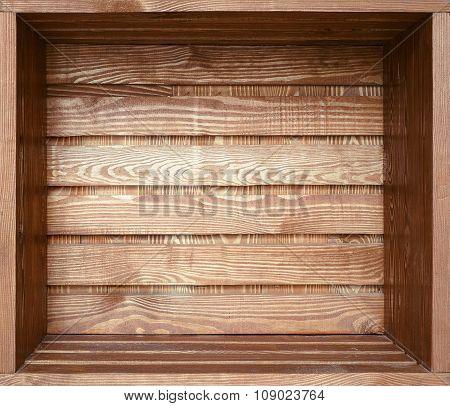 Empty old wooden shelf