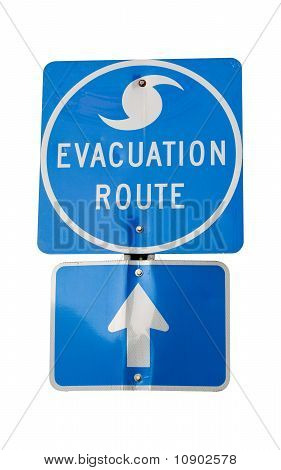 Rota de evacuação do furacão
