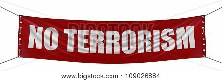 No Terrorism banner  (clipping path included)