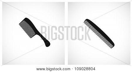 comb icon black