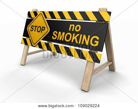 No smoking Sign (clipping path included)