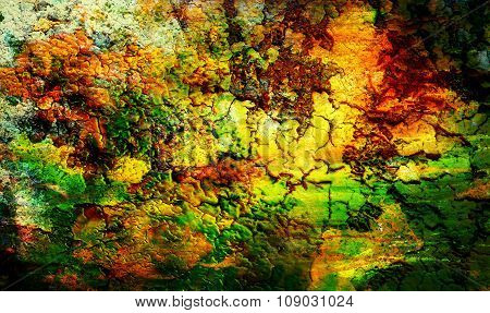 Color Abstract background and spots with desert crackle