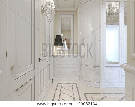 Design For Classical Hall In Light Colors.