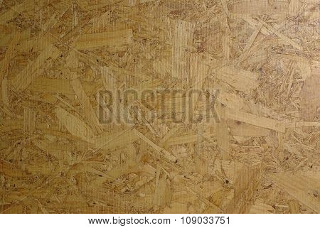 Particleboard of wood chips