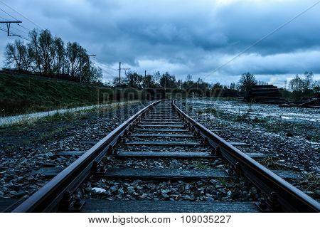 Railroad at autumn