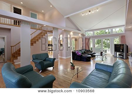 Great Room In Suburban Home