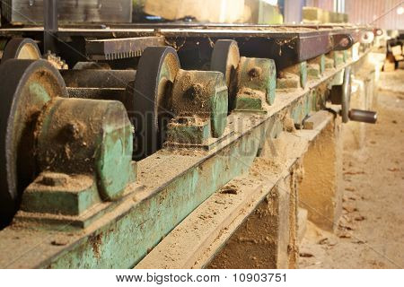 Wood Cutting Mill Interior