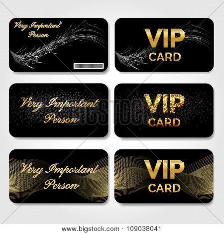 Set of Black VIP Cards