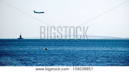 Oresund Bridge Between Sweden And Danmark