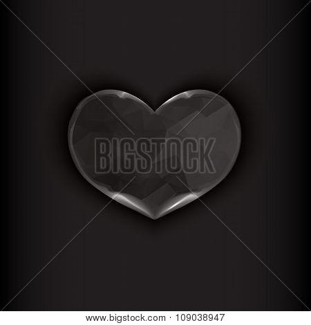 Heart On Black Background