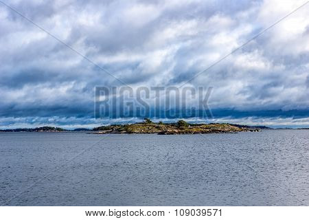 View over small islands