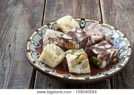Traditional Oriental Sweets - Sherbet And Halva
