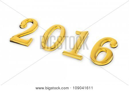 Numbers 2016 isolated on white background