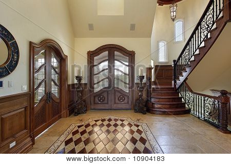 Foyer With Floor Design