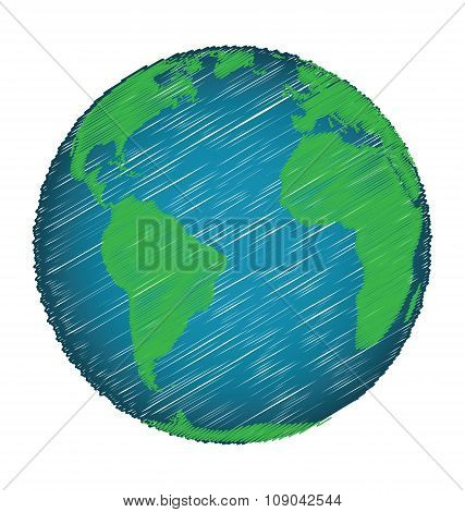 Earth Sketch Hand Draw