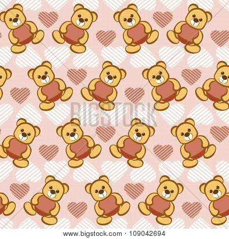 Seamless Vector Pattern With Toys