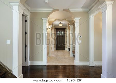 Foyer With Arched Entry