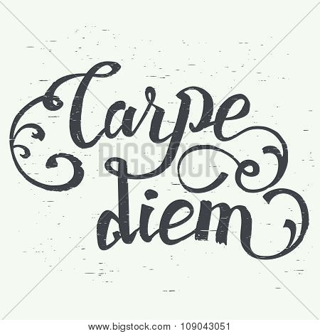 Carpe Diem Hand-lettering Quote