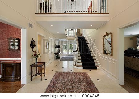 Foyer With Second Floor Landing