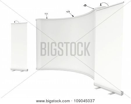 Roll Up And Pop Up Banner Stands