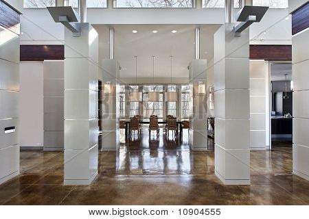 Modern Dining Room And Hall