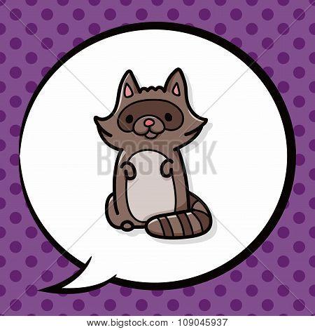 Animal Raccoon Doodle
