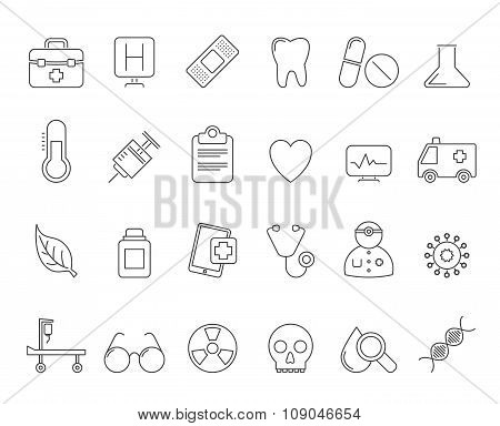 Health Care and hospital icons