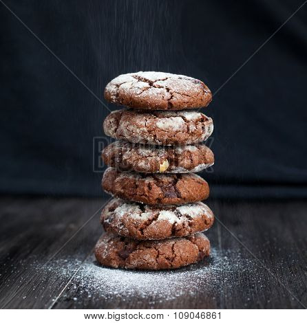 The chocolate cookies