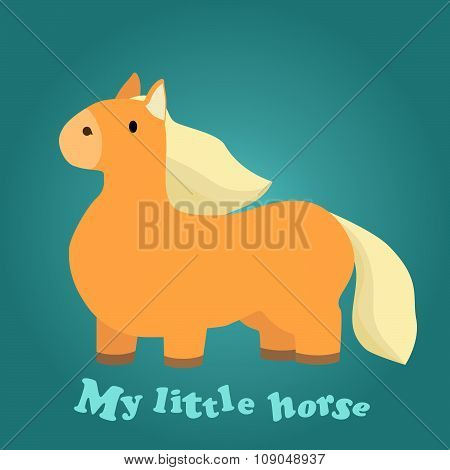 Illustration of a Cute Little Horse for background