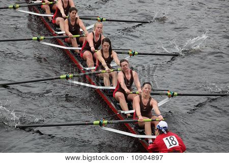 Boston - October 24:  Women's Crew  Competes In The Head Of The Charles Regatta  On October 24, 2010