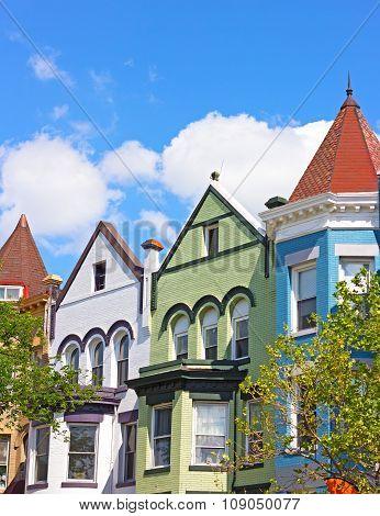 Historic architecture of Washington DC USA.