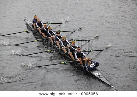 Boston - October 24:  Ithaca College Men's Crew Competes In The Head Of The Charles Regatta On Octob