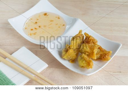 Deep Fried Dumpling Or Wonton With Pork Stuffed
