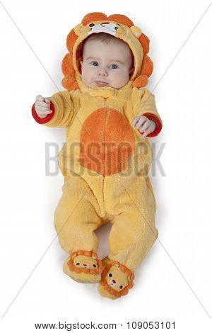 Little Boy In The Lion Suit