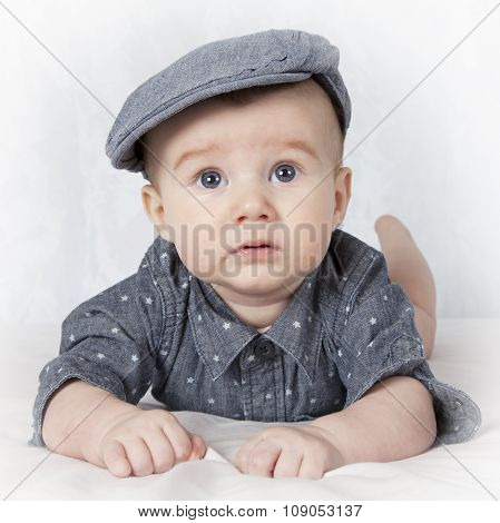 Portrait Of Four Months Old Baby Boy