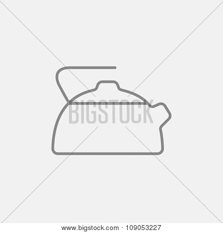 Kettle line icon for web, mobile and infographics. Vector dark grey icon isolated on light grey background.