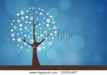 Abstract Tree - Winter Season