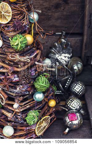 Vintage Christmas Tree Handmade