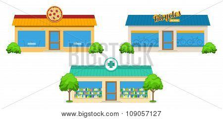 City Store Buildings Set