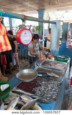 Fish Market In Asia