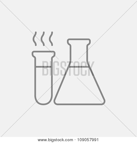 Llaboratory equipment line icon for web, mobile and infographics. Vector dark grey icon isolated on light grey background.
