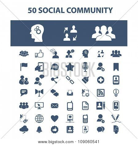 social community, media, blog, community, user, avatar  icons, signs vector concept set for infographics, mobile, website, application