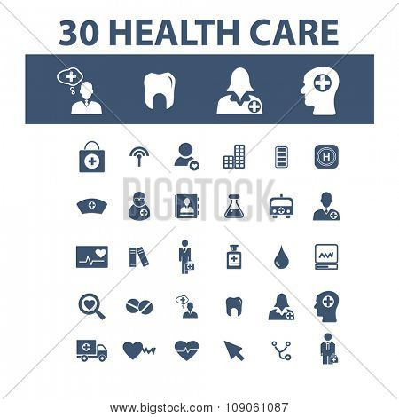 health care, medicine  icons, signs vector concept set for infographics, mobile, website, application