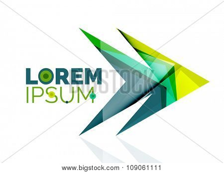 arrow company logo. Geometric icon