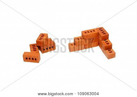 the right angle of the toy bricks
