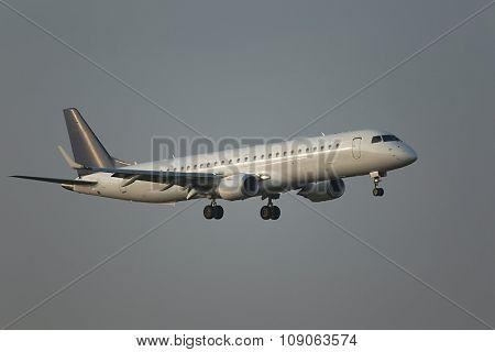 Crosswind landing of a plane